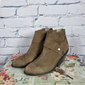 Eileen Fisher Tag Wrap Snap Ankle Booties